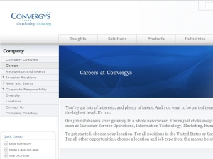 Ready for a career with Convergys?
